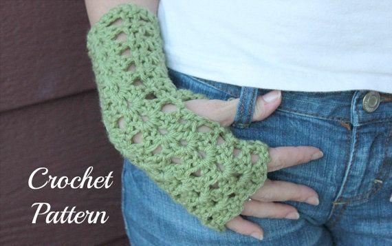 Crochet Pattern Pdf Crochet Gloves Pattern Fingerless By Onthehook