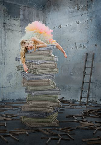 The princess and the pea. Fairytales. Photo www.juergenaltman...