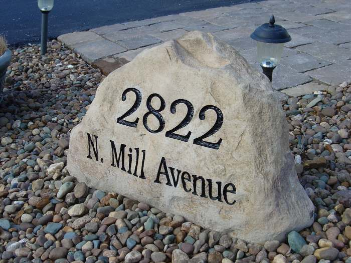 Address Stones And Address Boulders Address Stone Residential
