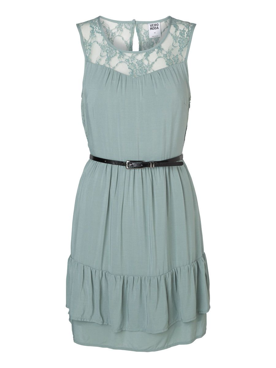 SLEEVELESS BELT PARTY DRESS, Chinois Green | my style | Pinterest ...