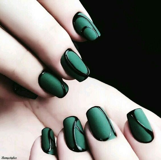 30 Outstanding Emerald Green Nails Art Designs For You Green Nail Designs Green Nail Art Green Nails