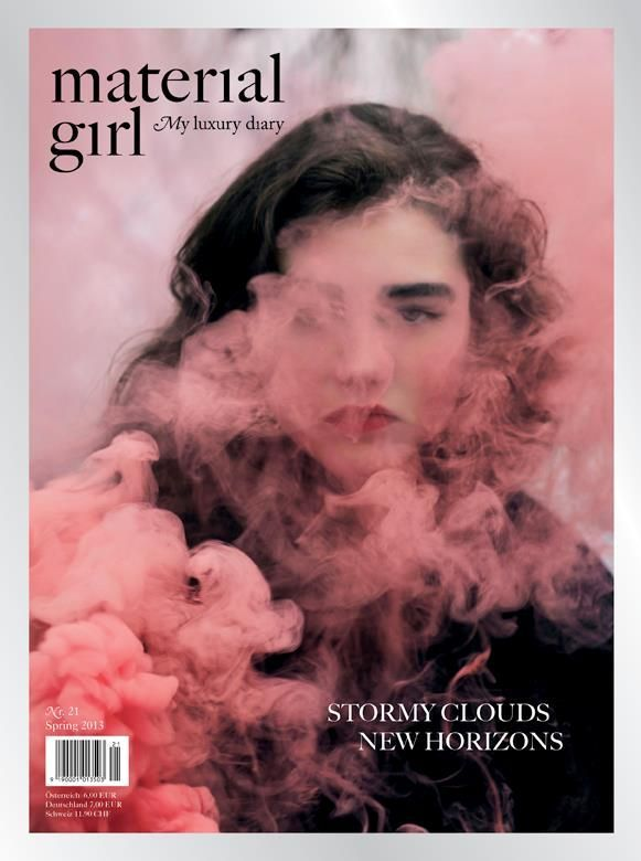 Material Girl magazine, issue 21, spring 2013 | Magazine Cover: Graphic Design, Typography, Photography |
