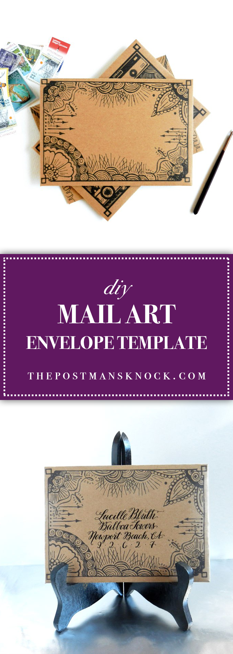 Photo of DIY Mail Art Envelope Template – The Postman's Knock