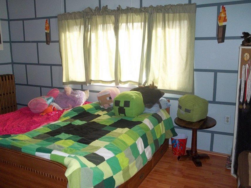 minecraft bedroom wallpaper set design ideas  interior