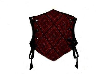 I-D-D Renaissance Peasant Wench Pirate Women Burgundy Tapestry Cincher