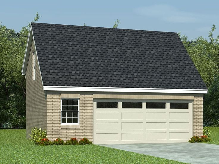 006g 0063 Two Car Garage Plan With Loft 28 X22 Garage Plans With Loft Loft Plan Garage Plans Detached