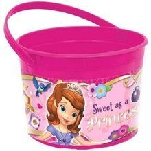 Sofia the First Plastic Favor Bucket Container ( 1pc )
