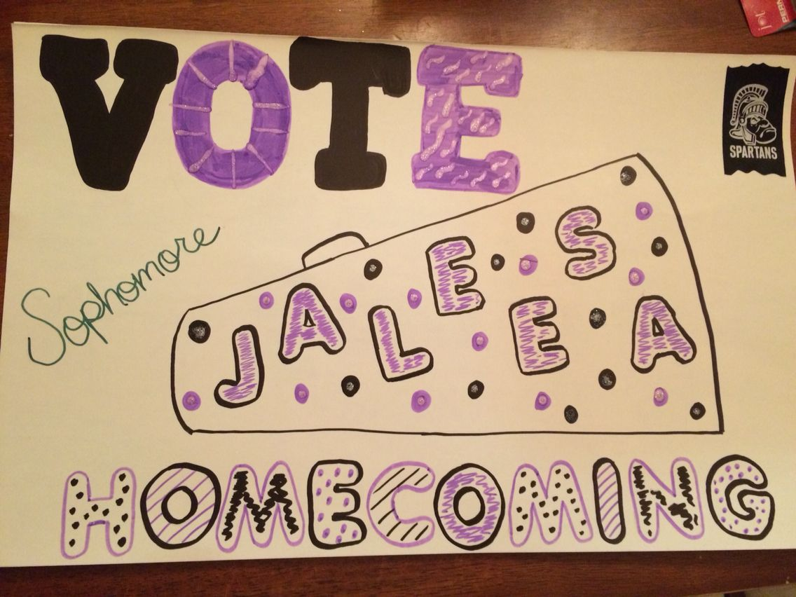 homecoming sophomore year | campaign poster ideas | homecoming