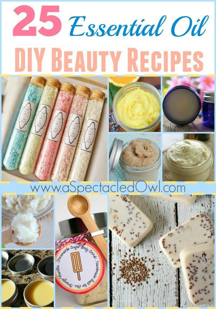 25 Essential Oil DIY Beauty Recipes - A Spectacled Owl #beautyproducts