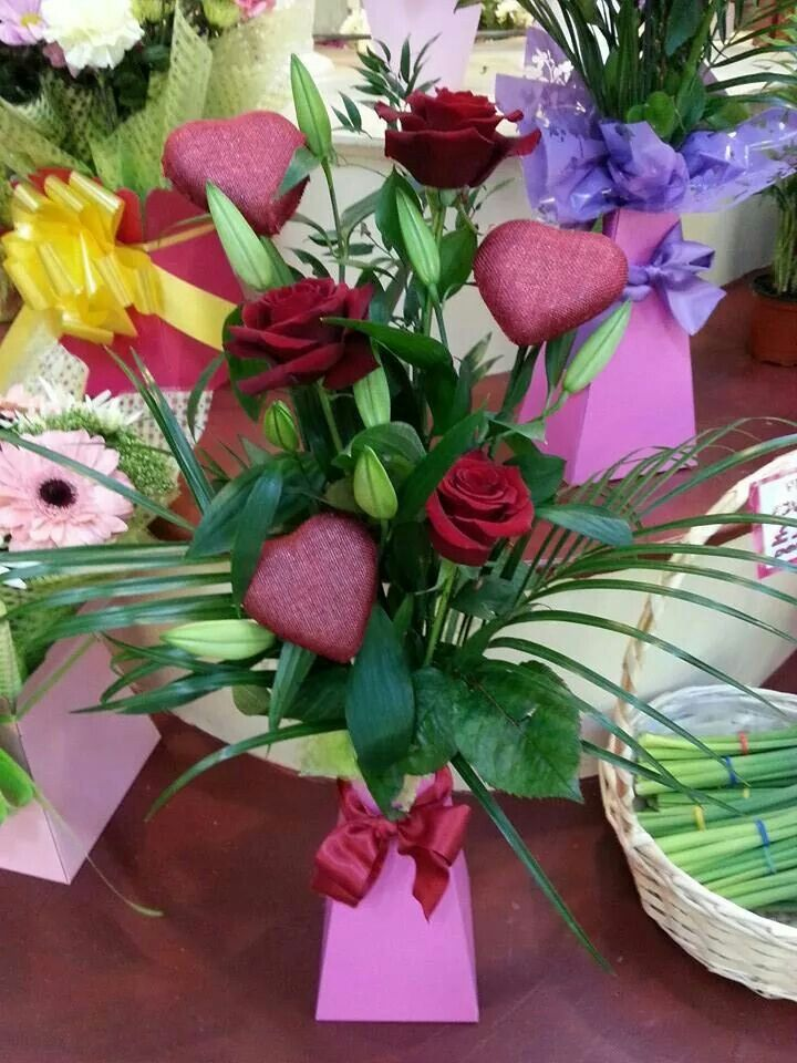 Simple valentines day hand tied