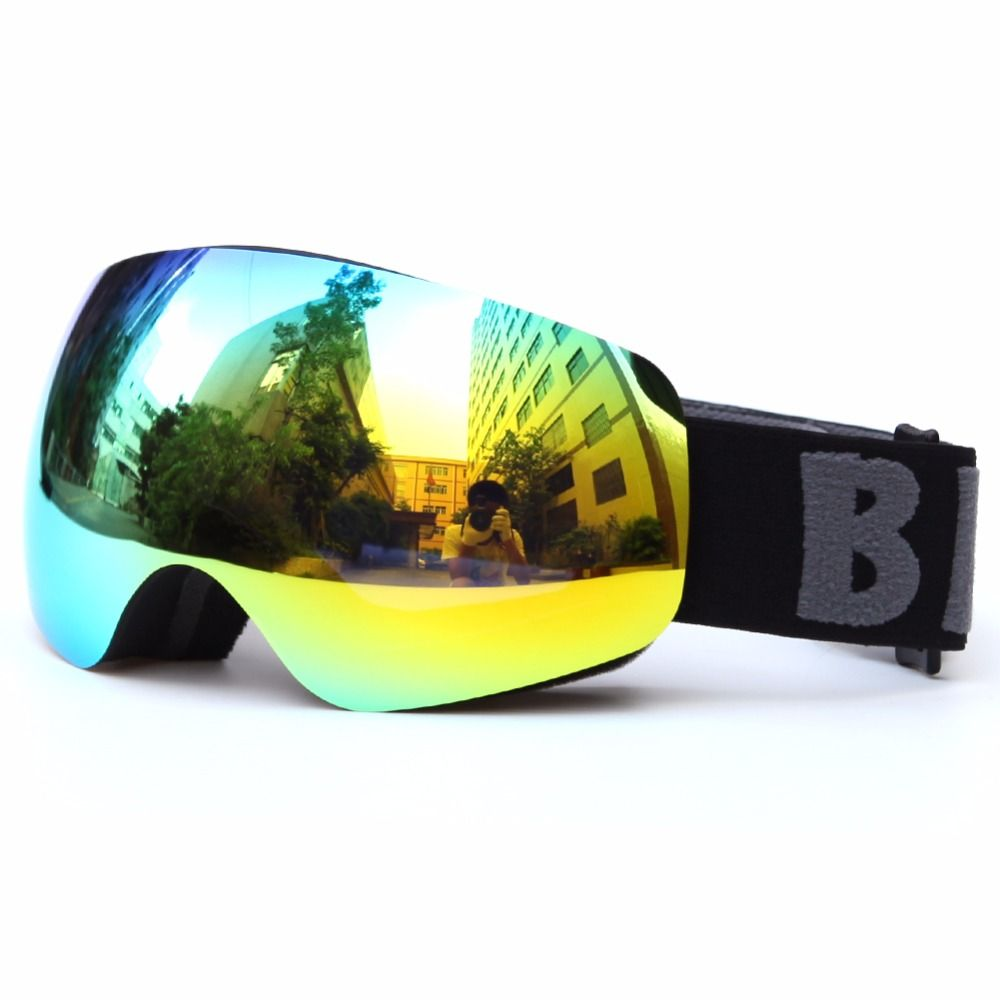 Professional Kids Snow Goggle Brand Double Lens Ski Glasses Eyewear Ski Goggle Colorful Anti-Fog Anti-UV Children Skiing Goggles