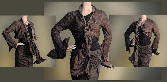 Women's Jacket Short Bolero Sculpting Wired Wrap by RebeccaBruce, $285.00