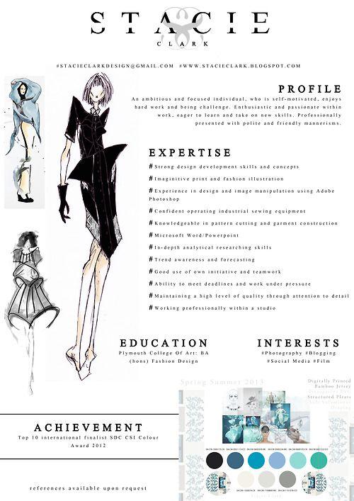 modele cv designer styliste mode