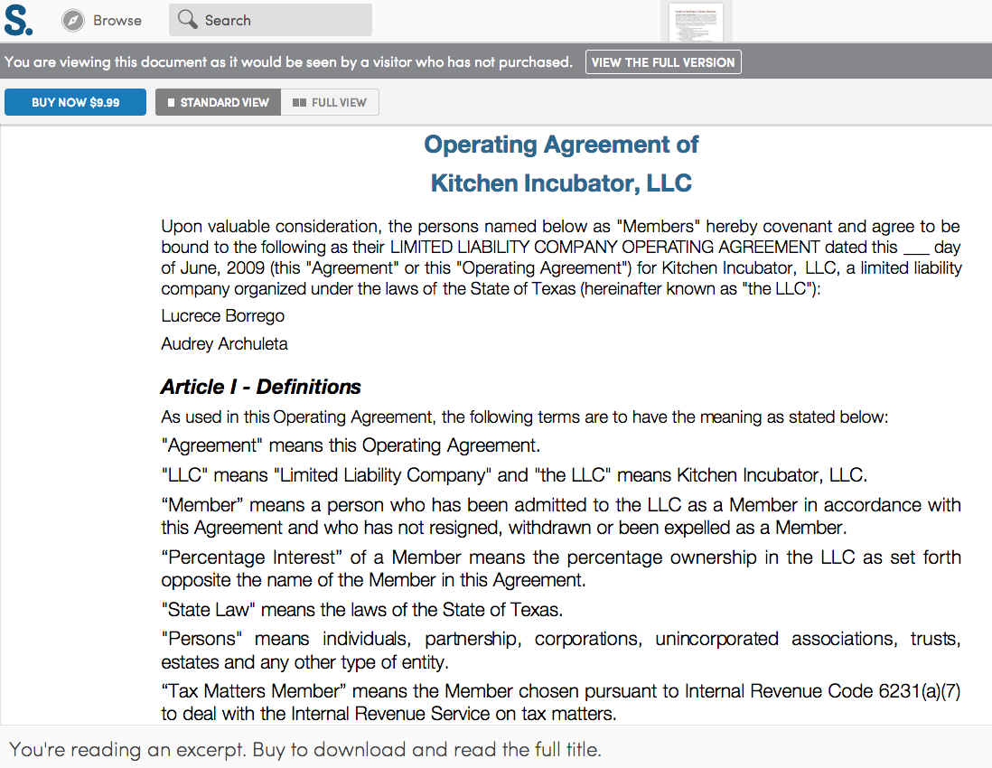 Sample Membership Agreement Operating Agreement For An Llc Or