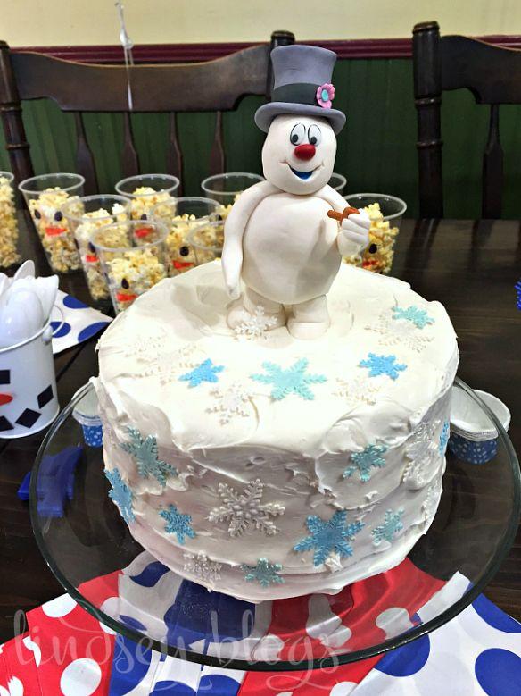 Super Frosty The Snowman Birthday Cake With Images Snowman Birthday Personalised Birthday Cards Veneteletsinfo