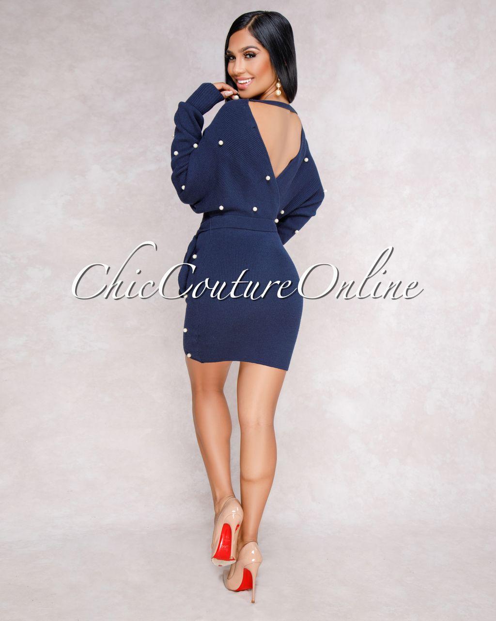 4d1213ab0dfe3 Tricot Robe Pull, Perle Bleue, Robe Moulante Flamboyante, Clubwear, Robe  Patineuse,
