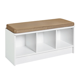 Surprising Closetmaid White 3 Cube Bench Lowes 59 98 Fallyn Ocoug Best Dining Table And Chair Ideas Images Ocougorg