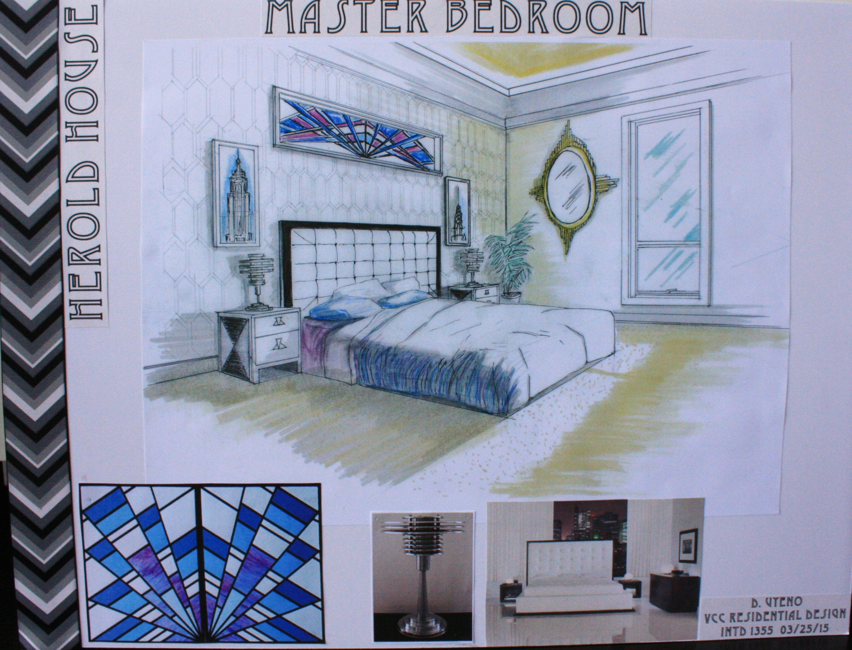 Master Bedroom board fro VCC residential Design Rendered