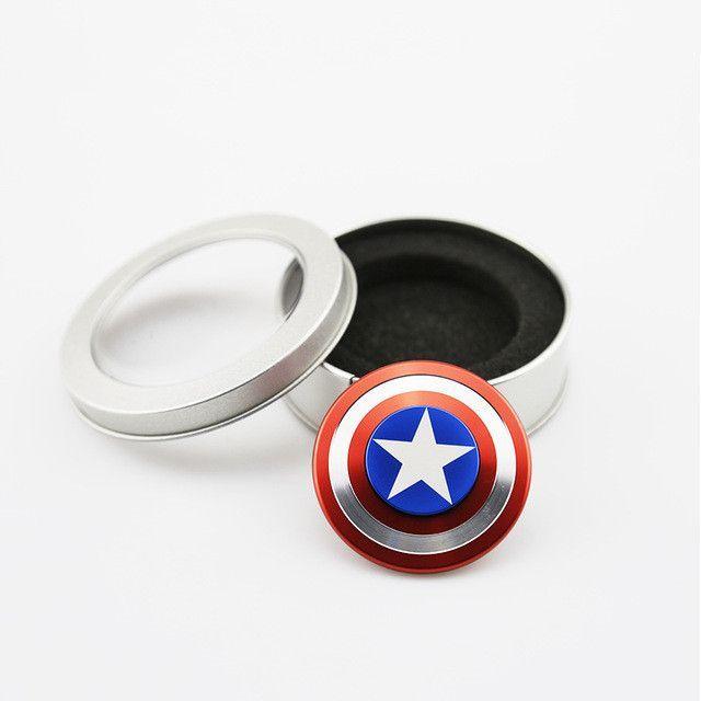 Fidget Spinner New Batman Captain America Iron Man Symbols Shape I