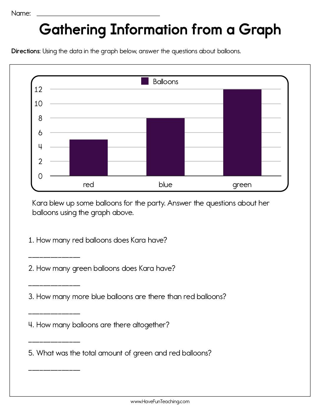 Pin By Have Fun Teaching On First Grade Graphing Worksheets Bar Graphs Graphing [ 1408 x 1088 Pixel ]