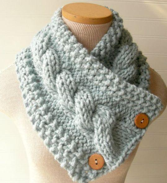 10 sugestões de golas de tricô a mão