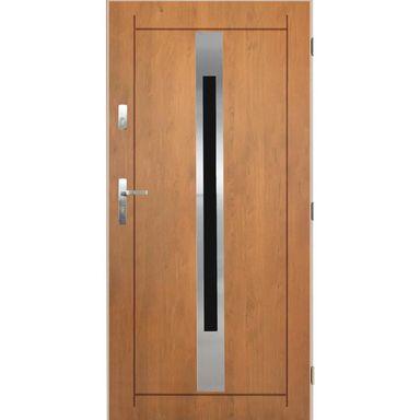 Steel entrance door Lille, winchester oak 90, right Panto …