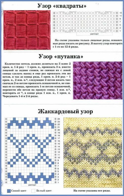 узоры схемы вязание картинки такой