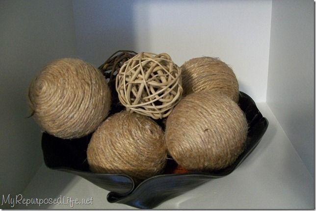 Decorative Balls For Bowls Decorative Jute Balls  Jute Wiffle Ball And Dollar Stores