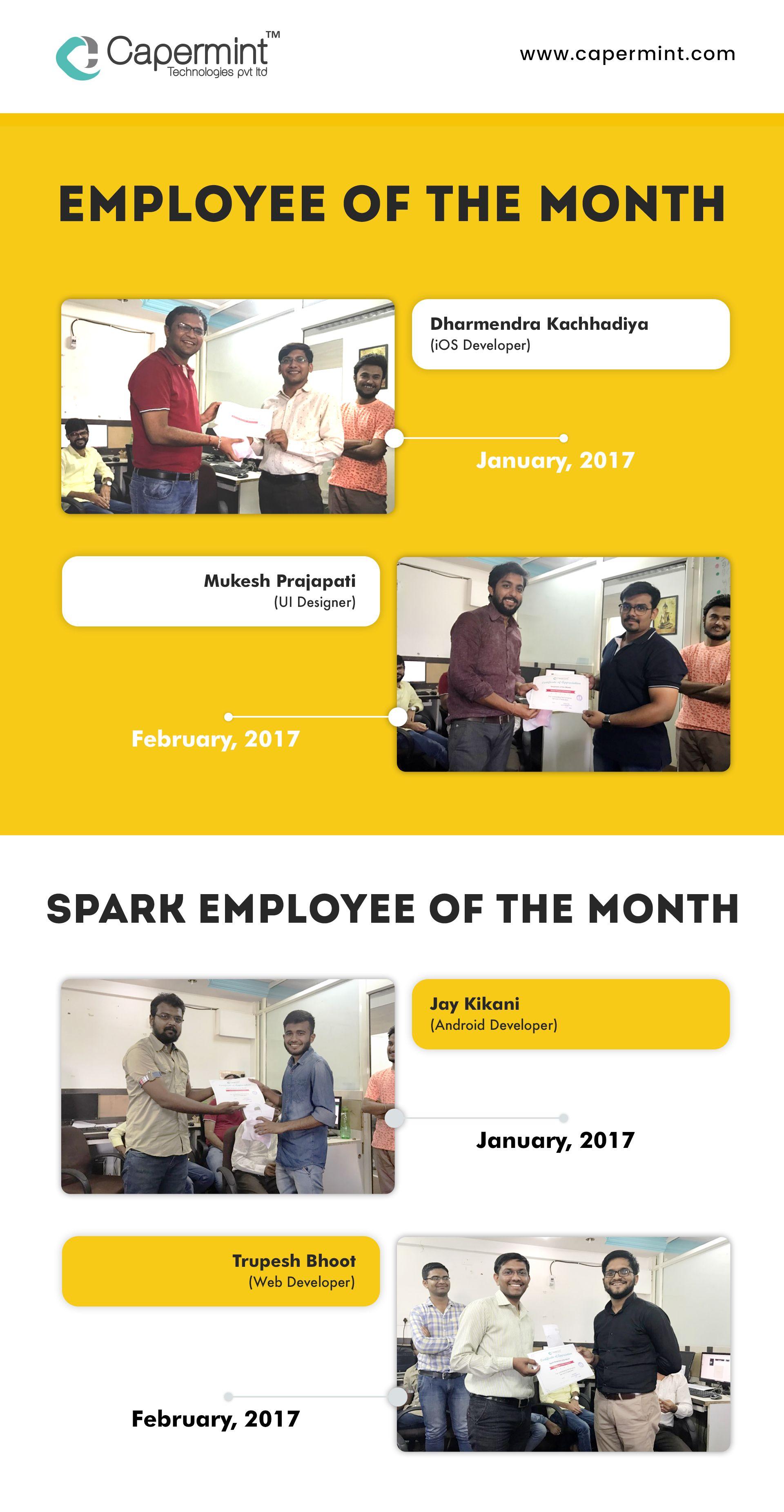 Congratulations to Award Winners of EmployeeoftheMonth