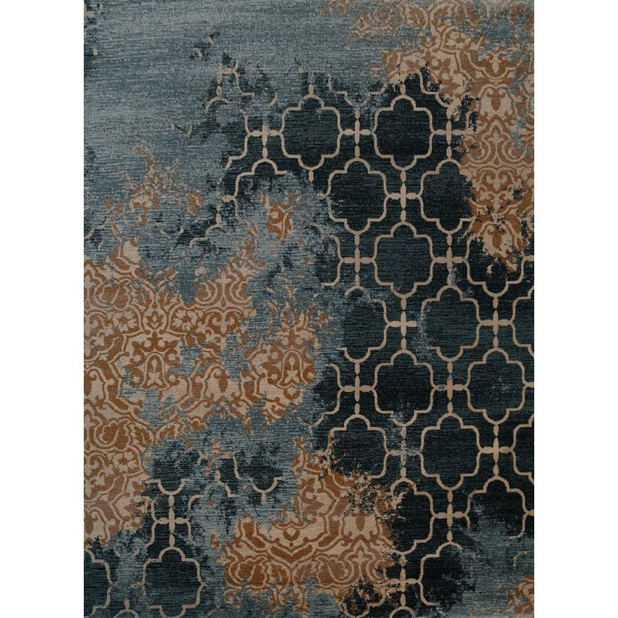 Cam Of America Aqua Splash Blue Area Rug Lowe S Canada