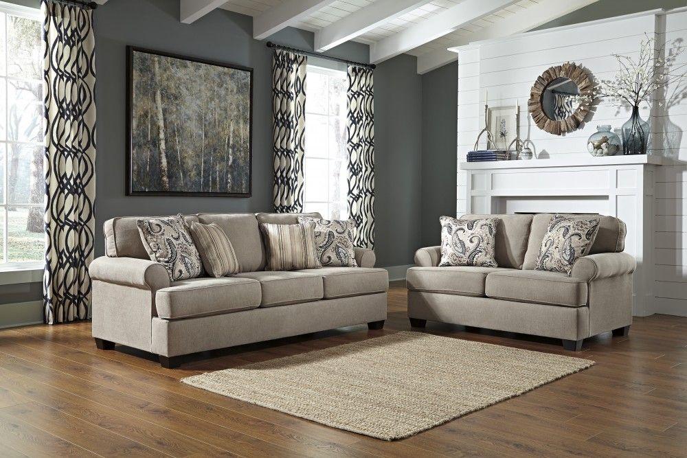 Melaya Pebble Sofa Amp Loveseat 47800 38 35 Living