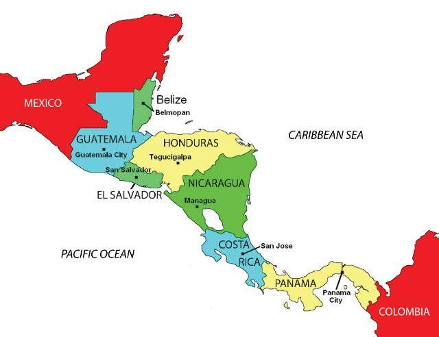 Honduras El Corazon De Centroamerica Mapa De Centroamerica
