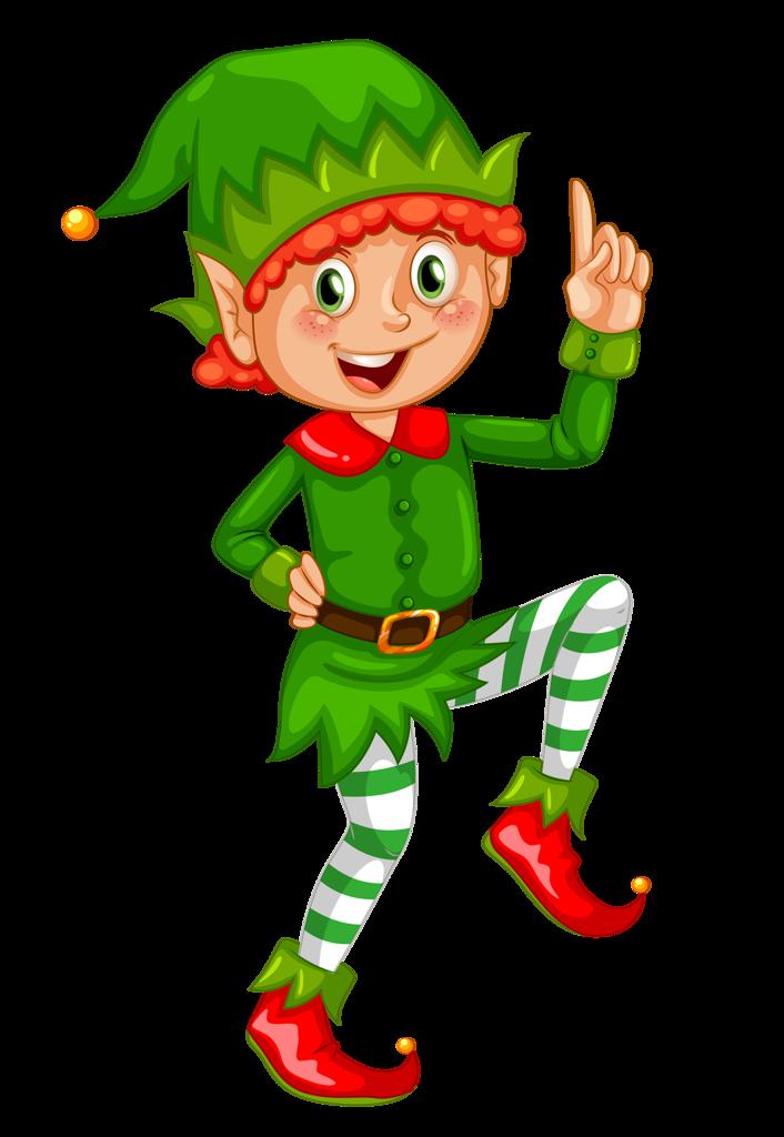 Новогодние персонажи | Christmas Clip Art | Xmas elf ...