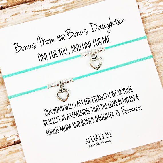 Daughter/'s Wish Bracelet Message Tibetan Charm Family Gift Anklet Heart Mother