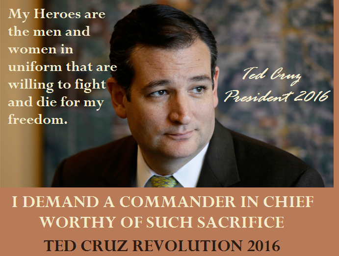 My heroes' are the men and women in uniform willing to fight for our FREEDOM! #CruzCrew #PJNET #TedCruz2016