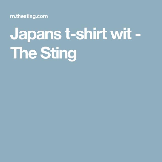 Japans t-shirt wit - The Sting
