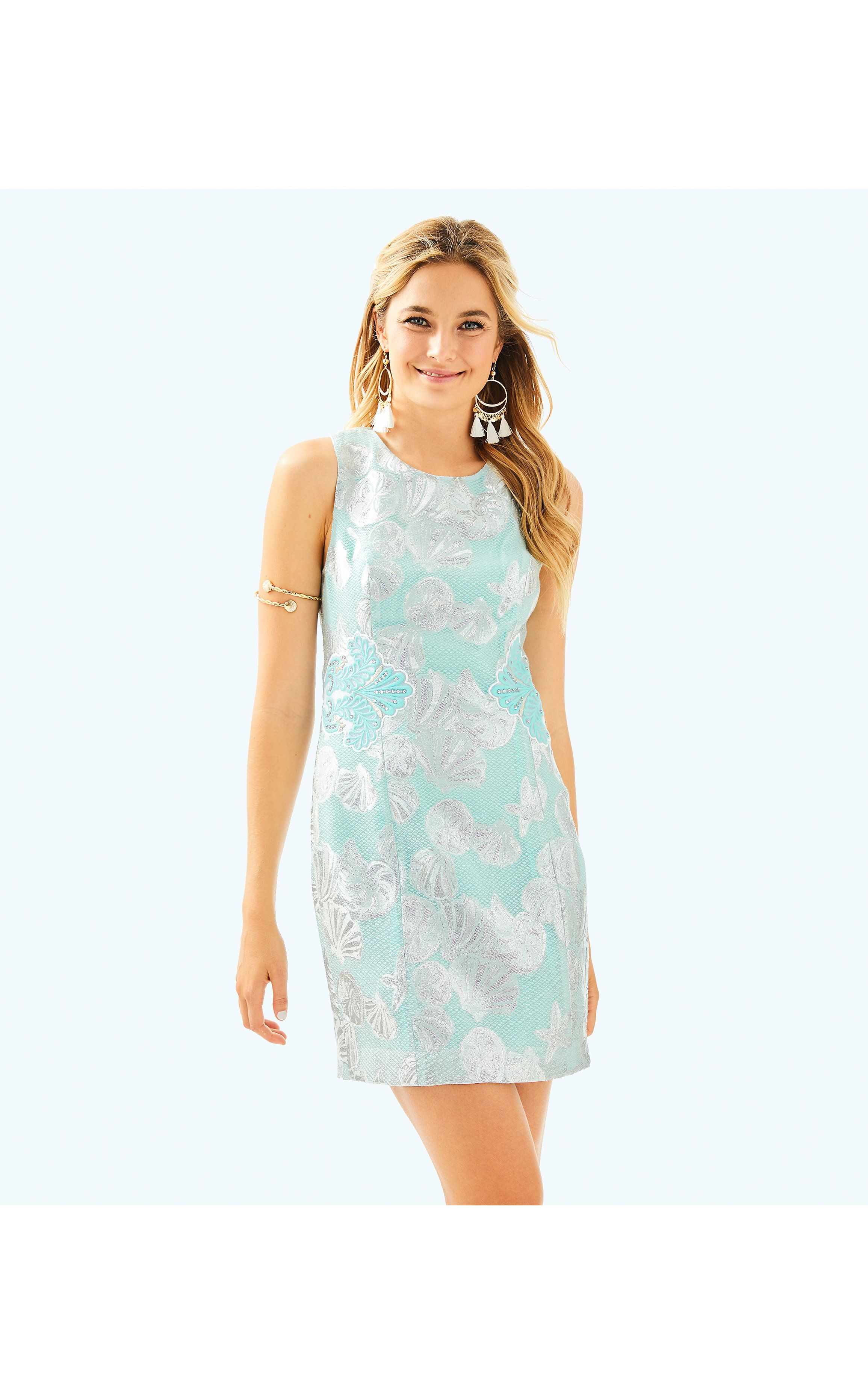 1498d651d8c4ce Mila Shift in Seasalt Tint Metallic Shell | Products | Dresses ...