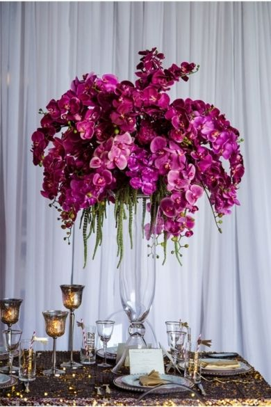 Purple Orchid Centrepieces Orchid Centerpieces Wedding