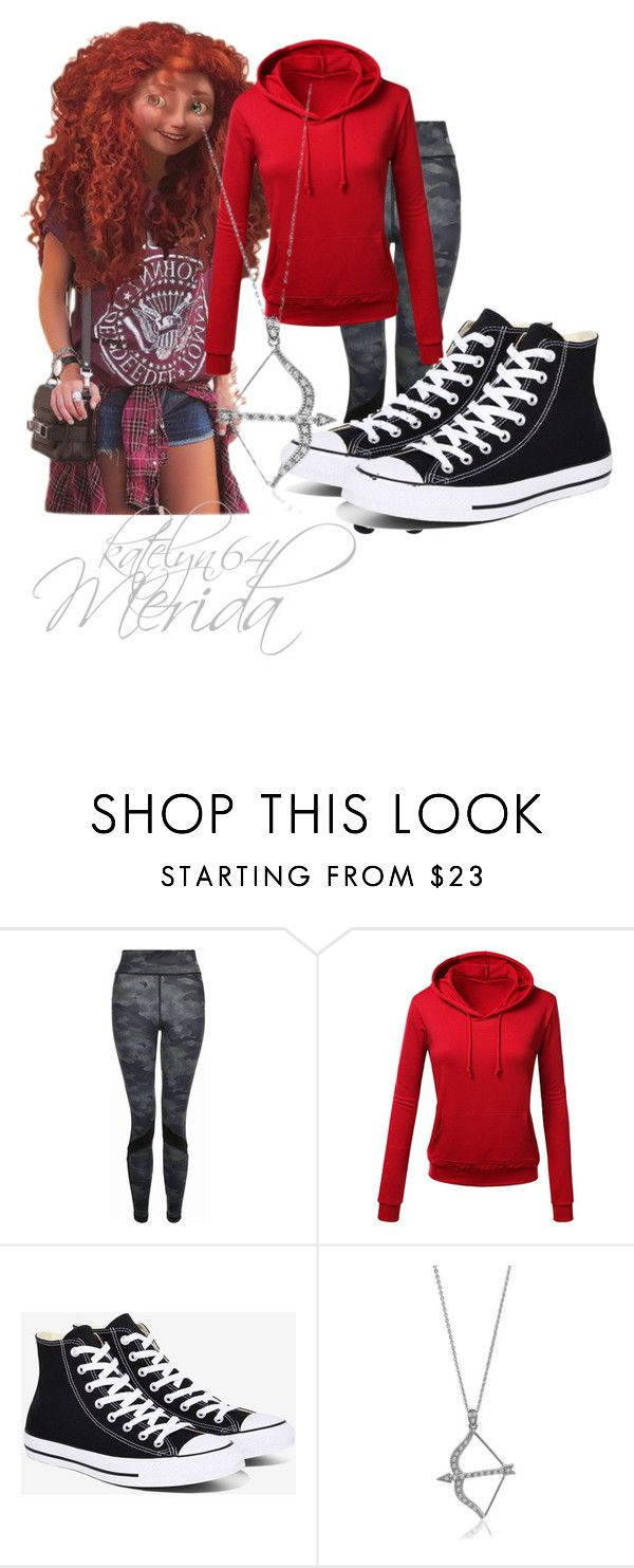 """""""Merida"""" by katelyn64 ❤ liked on Polyvore featuring Merida, New Look, Converse and BERRICLE"""