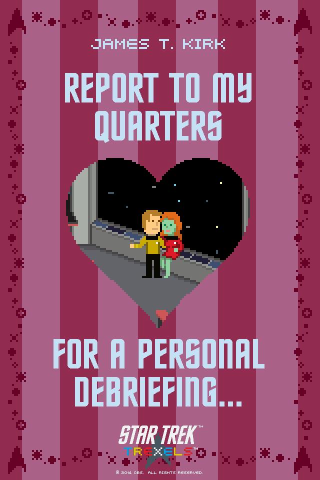 Star Trek Trexels Game Valentineu0027s Day Ecards. #pixelation