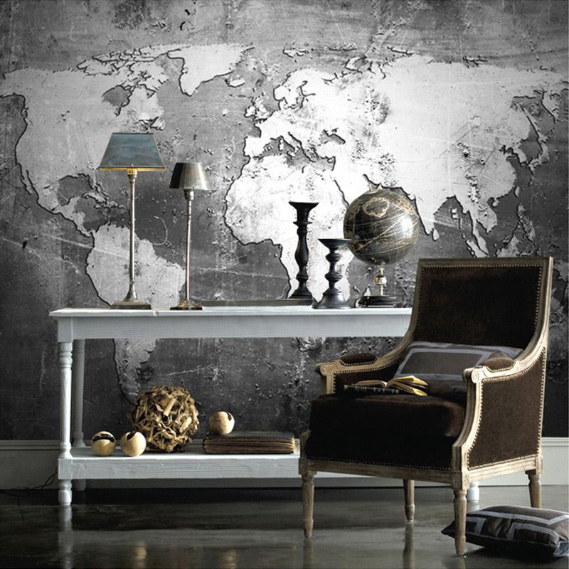 Black and white world map wall mural map wallpaper hd wallpapers wallpaper black and white world map wall mural gumiabroncs Choice Image