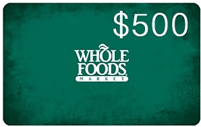 #Coupons #GiftCards $500 Whole Foods Market Gift Card #Coupons #GiftCards