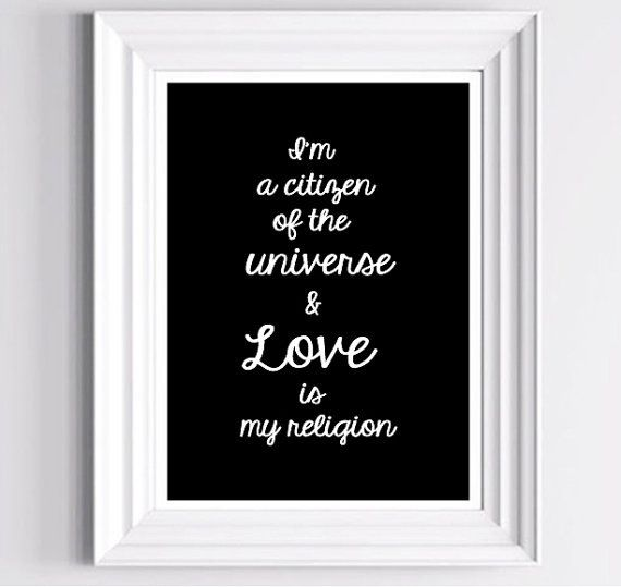 Love is my religion Typography print by Love Sign Boutique