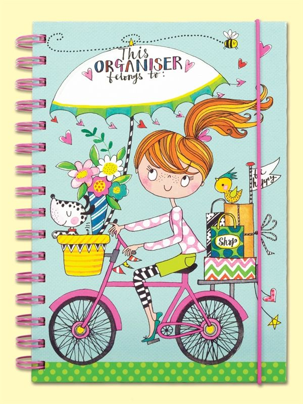 Organise your life with this beautiful a5 planner lots of sections and fun stickers too