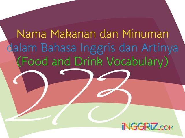 Httpinggriznama makanan dan minuman dalam bahasa inggris dan httpinggriznama makanan dan minuman stopboris Choice Image