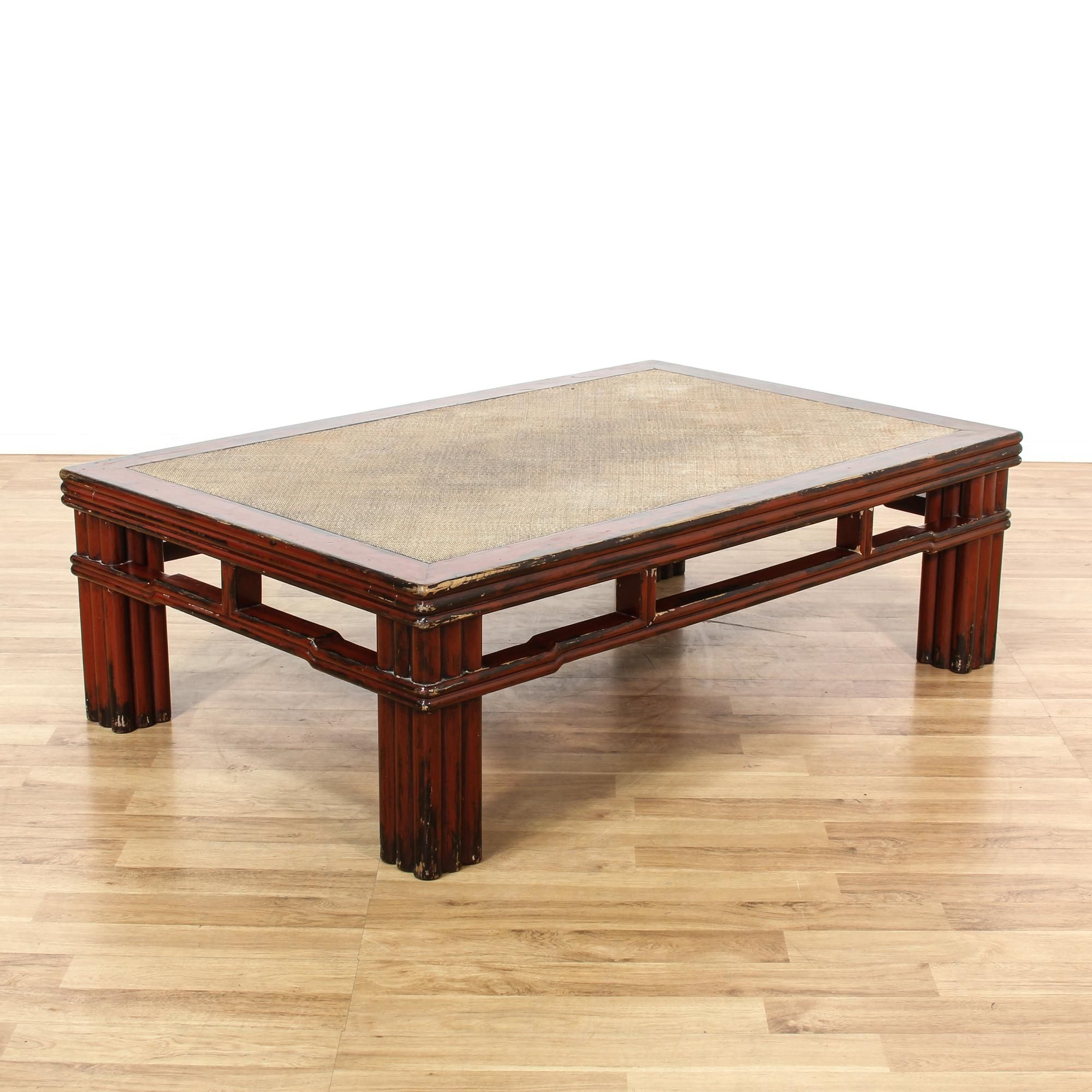 Asian carved red painted coffee table redbr solids and featured asian carved red painted coffee table geotapseo Images