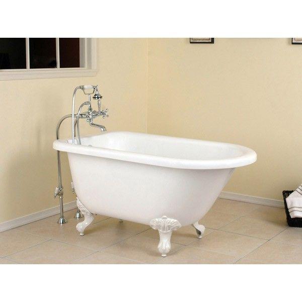 Savanna Acrylic Classic Clawfoot Tub No Faucet Drillings Ball