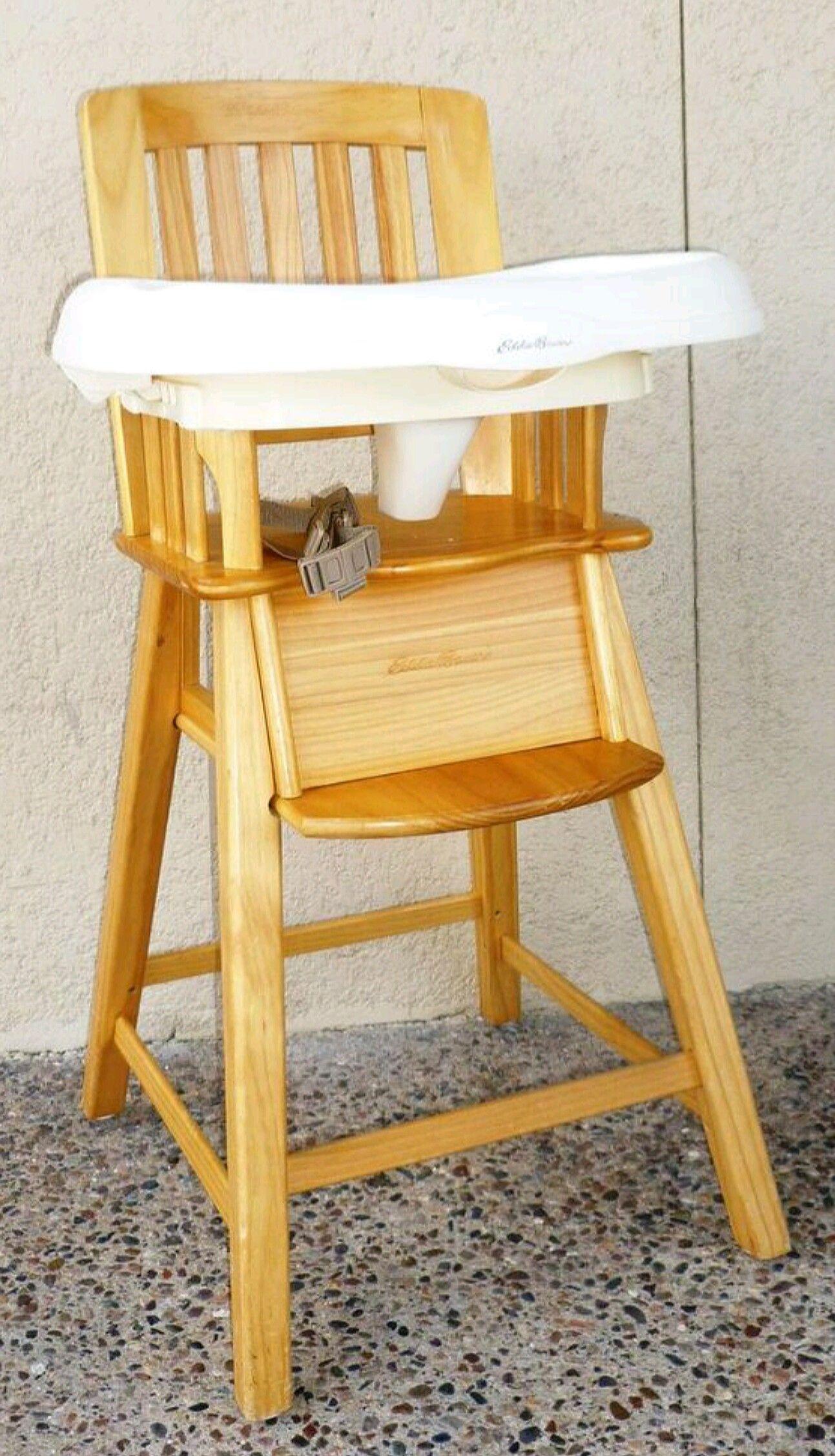 Eddie Bauer Classic 3 In 1 Wood High Chair Wood High Chairs