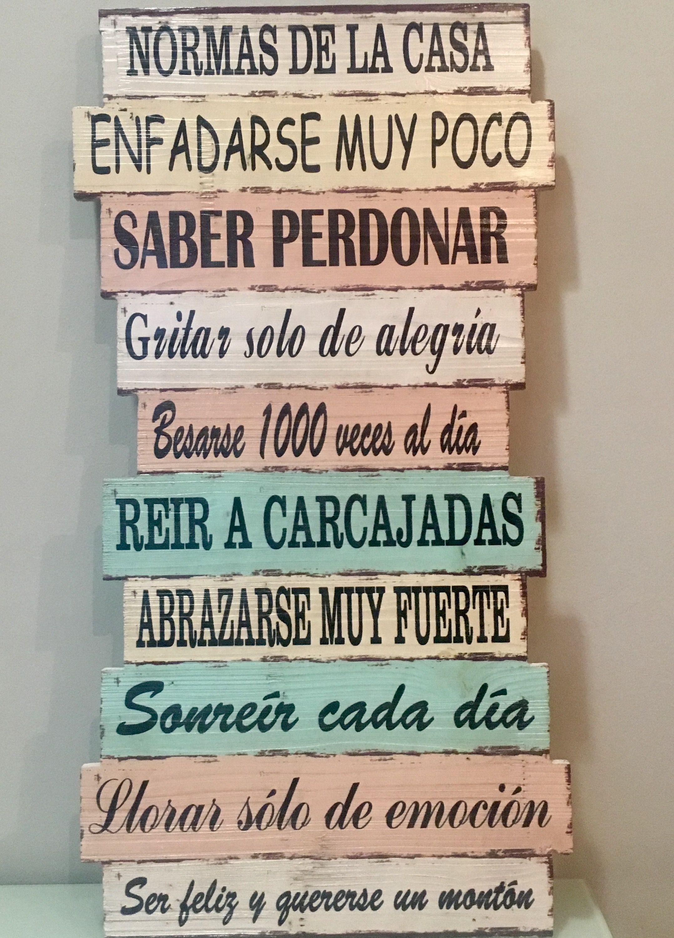 Las Nuevas Reglas De Mi Casa Reglas Familiares Reglas De La Casa Cuadros Con Frases