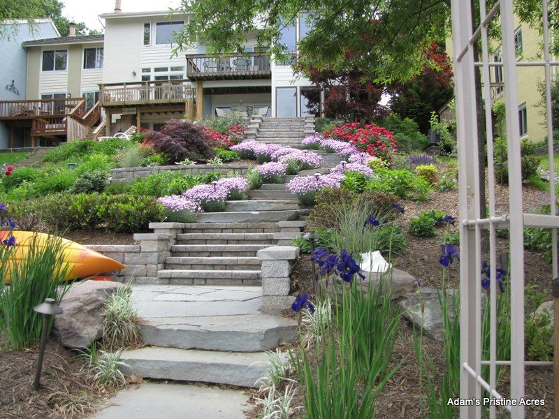 Lakefront Landscaping Lake Front Sloped Landscape Follow Up